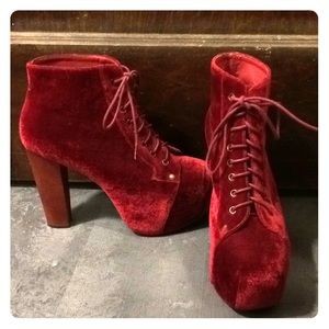 Jeffrey Campbell Red Velvet Litas